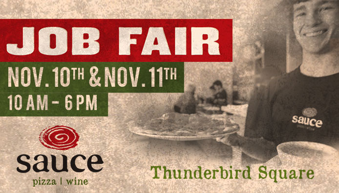 Job Fair November 10th & 11th 10am - 6pm