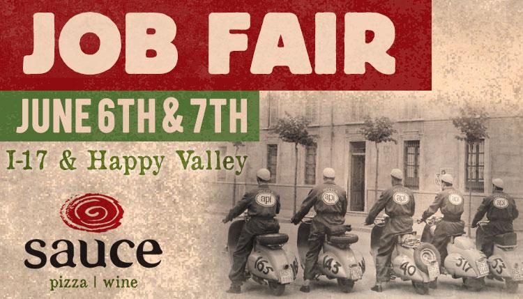 Job Fair June 6th & 7th I-17 & Happy Valley