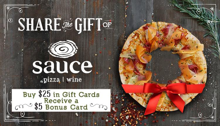 Sauce Holiday $5 Bonus Card Blog Image