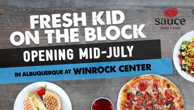 Suace Pizza & Wine Opening Mid-July in Albuquerque at Winrock Center