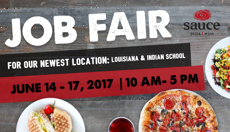 Job Fair for our newest location: Louisiana & India School June 14-17, 2017 10am - 5pm