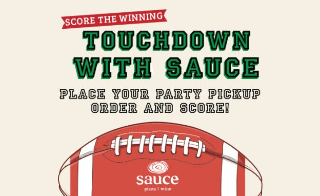 Touchdown with Sauce - place your party pickup order and score!